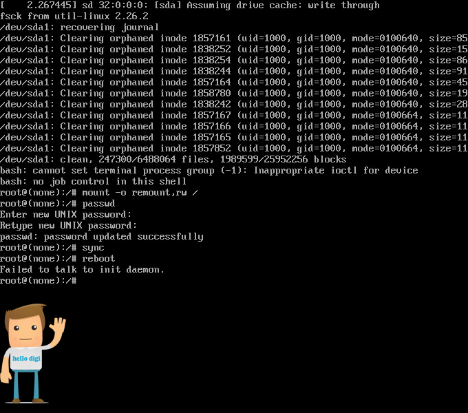آموزش ریست کردن پسورد Root در Debian